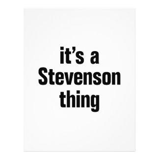 "its a stevenson thing 8.5"" x 11"" flyer"