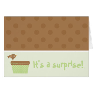 It's a surprise! greeting card