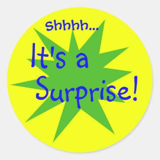 It's a Surprise! Round Sticker