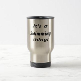 It's a swimming thing! travel mug