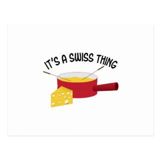 It's A Swiss Thing Postcard
