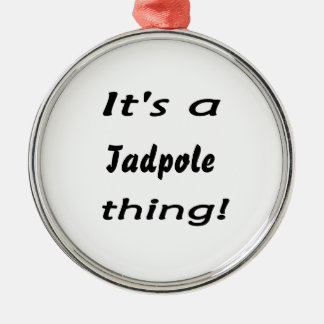 It's a tadpole thing! Silver-Colored round decoration