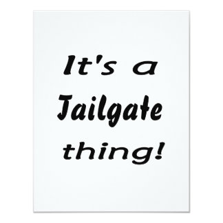 It's a tailgate thing! announcement