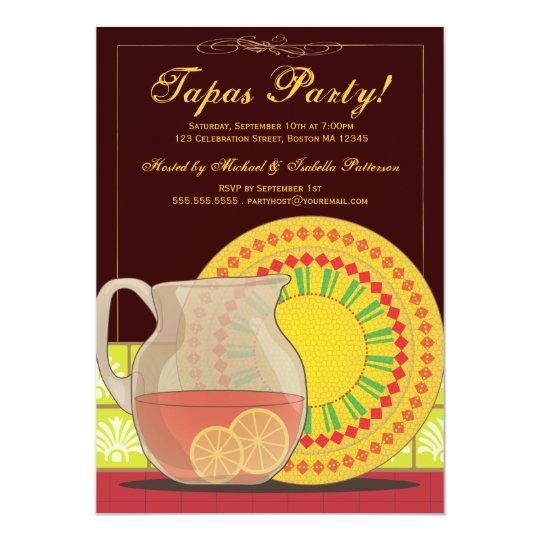 It's a Tapas Party! Happy Hour Invitation