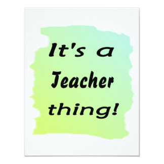 It's a teacher thing! announcement