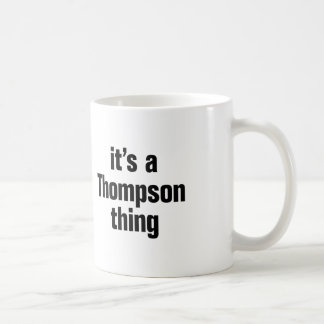 it's a thompson thing basic white mug