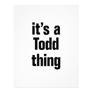 its a todd thing 21.5 cm x 28 cm flyer