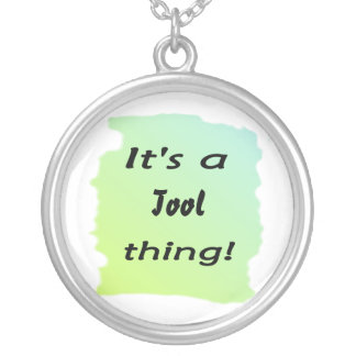 It's a tool  thing! round pendant necklace