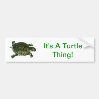 It's A Turtle Thing Car Bumper Sticker