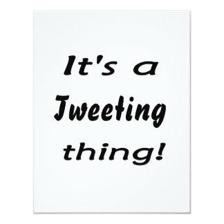 "It's a tweeting thing! 4.25"" x 5.5"" invitation card"