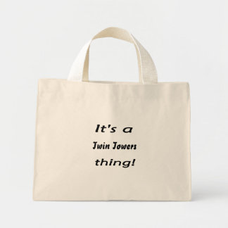 It's a twin towers thing! canvas bag