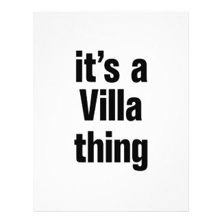 "its a villa thing 8.5"" x 11"" flyer"