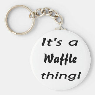 It's a waffle thing! basic round button key ring