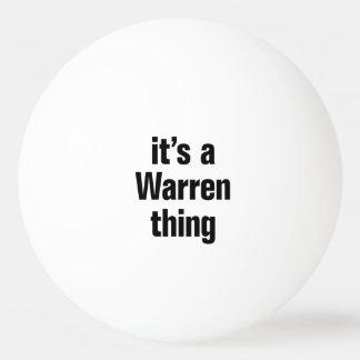 its a warren thing