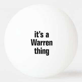 its a warren thing