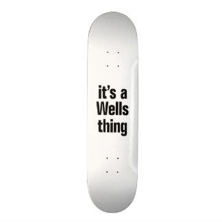its a wells thing skate board decks