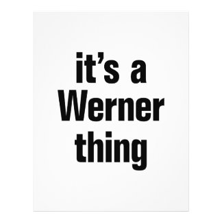 """its a werner thing 8.5"""" x 11"""" flyer"""
