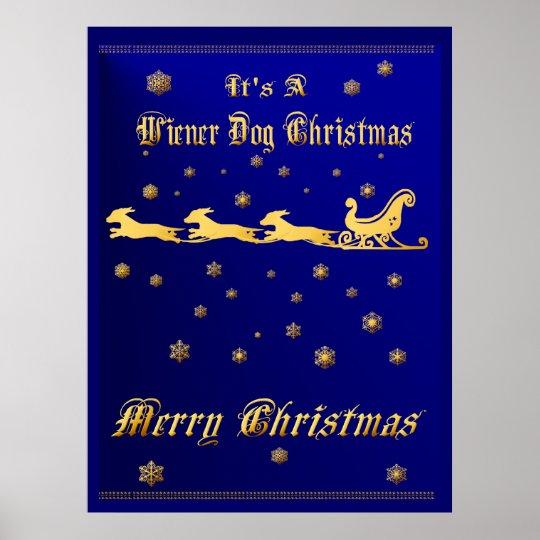 It's A Wiener Dog Christmas Print