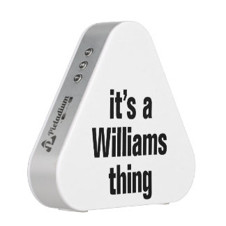 it's a williams thing