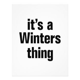 """its a winters thing 8.5"""" x 11"""" flyer"""