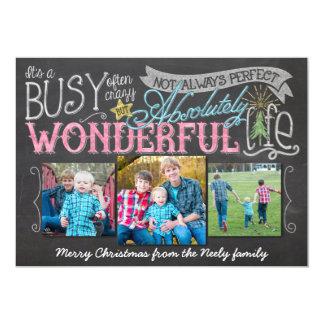 It's a Wonderful Life Chalkboard Holiday Card