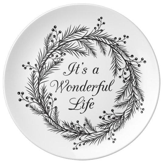 It's a Wonderful Life - Christmas Decorative Plate