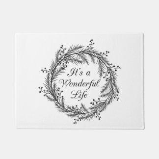 It's a Wonderful Life - Christmas Door Mat