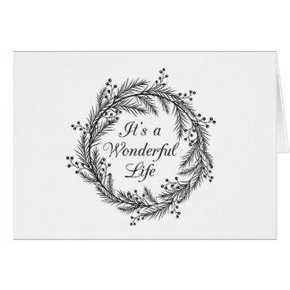 It's a Wonderful Life - Christmas Greeting Card