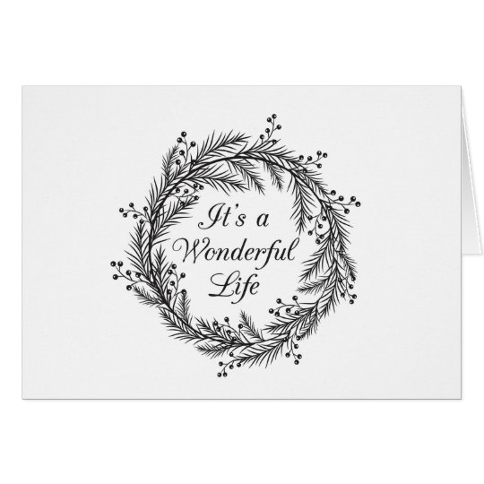 It's a Wonderful Life - Christmas Greeting Card