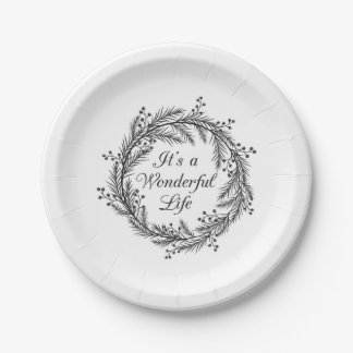It's a Wonderful Life - Christmas Paper Plates