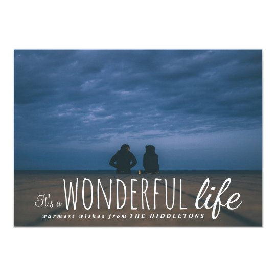 Its A Wonderful Life Cute Script Holiday Photo