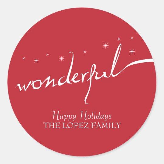 It's a Wonderful Life, Holiday Classic Round Sticker