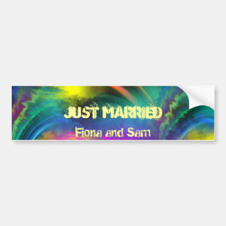 """Its A Wonderful World For Soulmates""* Bumper Sticker"