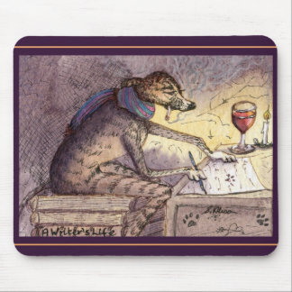 It's a writer's life - greyhound mouse pad