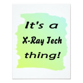It's a x-ray tech thing 11 cm x 14 cm invitation card