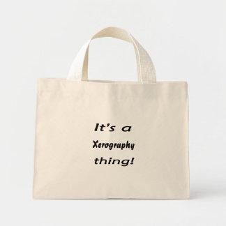 It's a xerography thing! mini tote bag
