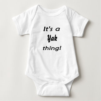 It's a yak thing! baby bodysuit