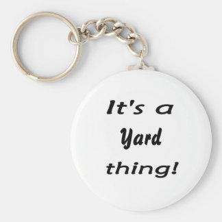 It's a yard thing! keychain