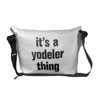 its a yodeler thing courier bag