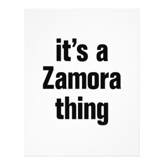 """its a zamora thing 8.5"""" x 11"""" flyer"""
