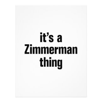 """its a zimmerman thing 8.5"""" x 11"""" flyer"""