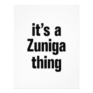 "its a zuniga thing 8.5"" x 11"" flyer"