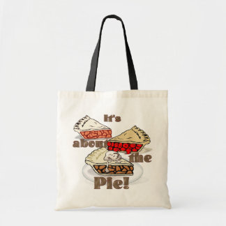 Its About the Pie THANKSGIVING HOLIDAY BAKERY Budget Tote Bag