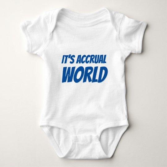 It's accrual world baby bodysuit