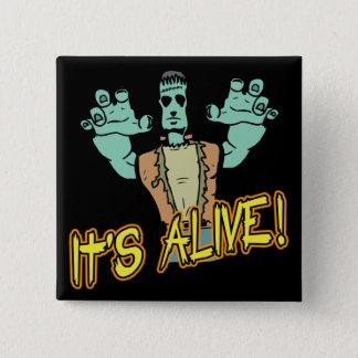 It's Alive Frankenstein Button