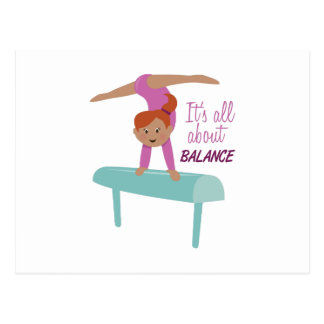 It's All About Balance Postcard