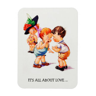 It's all about Love. Valentine's Day Gift Magnets