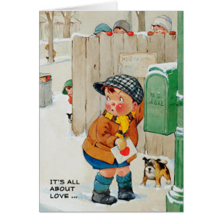 It's all about Love.Valentine's Day Greeting Cards