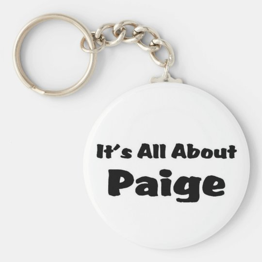 It's all about paige key ring