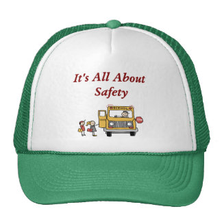 It's All About Safety School Bus Driver Hat